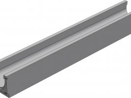 13801 DN100 Лоток бетонный 1000х140х125 стандарт вибропресованный
