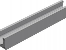 13000 DN100 Универсальный бетонный лоток 1000 х160 х132 DN100 без уклона